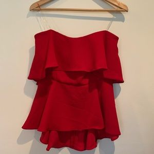 Do + Be red tiered tube top Fabrik S Valentine's